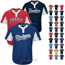 MLB Youth Majestic Premier Baseball Two Button Colorblocked Jersey All Teams Y83