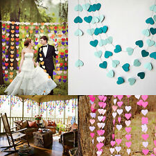 4M Heart Wedding Paper Bunting Banner Photo Props Party Hanging Decoration Pop C