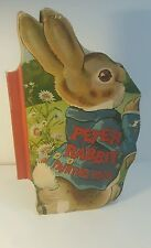 Peter Rabbit painting book. Beatrix Potter. Shaped book. 1913 1ST EDITION