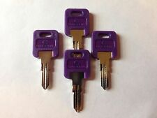 4 FIC RV Code Cut purple Plastic Head  Key CF301- CF351,(CH751-Brass only)