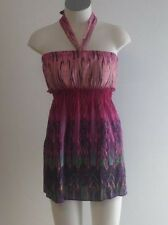 NEW Ladies Woman's Casual Pink & Purple Top - Ajoy Brand Sample Size 8-10
