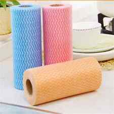 50pcs/Roll Non-Woven Cleaning Cloth Disposable Wipes Clean Towel Dishcloths YN