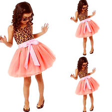 Baby Girls Kids Toddlers Dress Princess Party 2-7Y Tulle Tutu Mini Skirt 3C