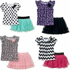 New Baby infant Toddler Girls Tutu skirt & Top outfit set size 24M 18M 12M