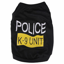 POLICE K-9 UNIT - DOG PET CAT T-SHIRT CLOTHES -   APPAREL K9 - HALLOWEEN COSTUME