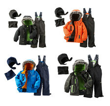 OshKosh Toddler Boys 4-PC Fleece-Lined Snowsuit Jacket Bib Neck Warmer Hat NWT