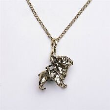 Fashion Charms Bulldog Necklace Lovely Puppy Bull Dog Pendant Necklace For Women