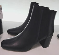 ZARA HIGH HEEL LEATHER ANKLE BOOTS WITH STRETCH DETAIL 35-41 REF. 5100/101