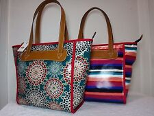 NWT Fossil Key Per Shopper Tote, Stripe/Fresh Multi