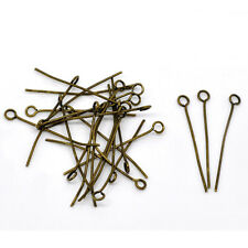 1000Pcs Retro Bronze Tone Eye Pins DIY Jewelry Crafts Making Findings 26mm-70mm