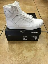 SUPRA SKYTOP LEATHER SHOES WHITE/WHITE/RED-WHITE S18275