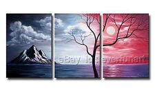 Modern Handmade Abstract Oil Painting  Large Tree Canvas Art Wall Decor (+Frame)