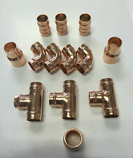 Yorkshire Plumbing 15mm Copper Fittings Solder Ring all  Pack of 10