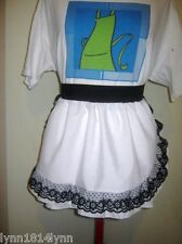 1/2 APRONS WITH LACE OVER TRIM MESSAGE COLORS APRON & TRIM CAN BE PERSONALISED