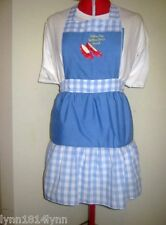 LADIES KIDS MENS WIZARD OF OZ COSTUME CHARACTER APRON MADE 2 ORDER