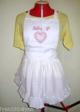 LADIES KIDS GIRLS ASSORTED HEARTS APRON M2O Many colors & embroideries avaiable