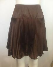 NEW Ladies Brown Pleated Bubble Skirt - Ajoy Brand Size 16