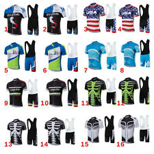 Large Size Outdoor Sports Men's Team Bicycle Jersey Cycling Jersey and Short Set