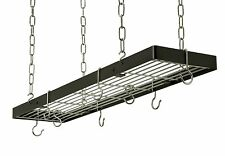 Rogar 35in Hanging Rectangle Pot Racks Available in 3 Colors