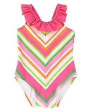 NWT Gymboree Tropi-Cutie  Ruffle Chevron One-Piece Swimsuit Size 12-18 18-24 M