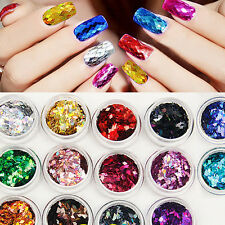 14 Colors Nail Art Big Rhombus Glitter Shiny Decoration For Nail Art System Tips