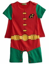 Baby Boy Robin Costume Romper Babygrow Playsuit 6-24 Months