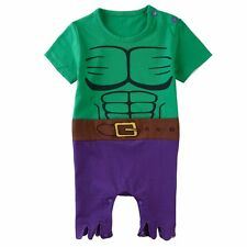 Baby Boy Hulk Costume Romper Onesie Funny Infant Babygrow Playsuit Jumpsuit