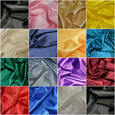 Plain Coloured Habotai Silk Lining Fabric 100% Polyester Material 110cm Wide