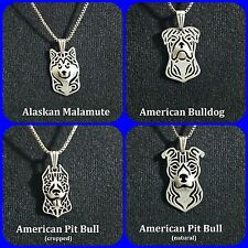 Silver Plated Dog Necklace - 29 Varieties - USA Seller-Fast Shipping w/Tracking