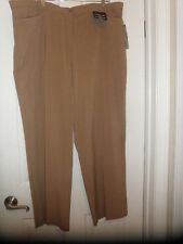 NEW Womens PLUS Sz 22W Average Dress Casual Pants TAN slims tummy stretch fabric