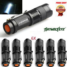6X CREE Q5 7W 1200Lm LED Flashlight Torch Adjustable Zoom Focus Light Lamp Lot