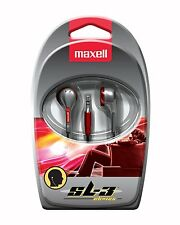 Maxell Stereo Earbuds Red & Silver 190568 EB-125 NEW FAST Shipping