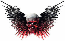 Skull with Guns Edible Image FROSTING SHEET Cake Topper