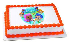 BUBBLE GUPPIES - GIL & MOLLY EDIBLE CAKE TOPPER! FREE SHIPPING