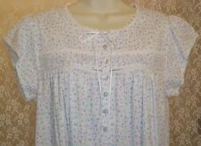 Eileen West Cotton Short Sleeve Knee Length Nightgown White Pink Blue Lilac NWT