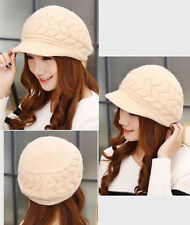 Hot Women Girl Woolen Hat Beanie Ski Lovely Winter Warm Knitted Cap Fashion New
