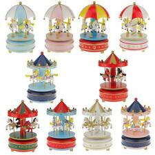 Revolving Wind Up Horse Carousel Music Box Home Desk Decoration Kid Toy Ornament