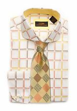 Dress Shirt Steven Land Rounded Spread collar Round French Cuff-Cream-TA1622-CR