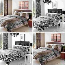 Tiger Skin & Zebra Skin Print Duvet Cover+PillowCase  Bedding Set, Curtains