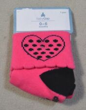 NWT BABY GIRLS BABYGAP PINK FOLD OVER ANKLE SOCKS SZ 0-6 MONTHS
