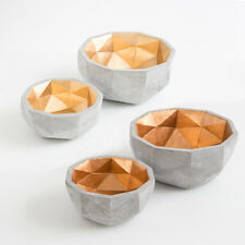 NEW Aspire Cement Geo Decorative Bowl