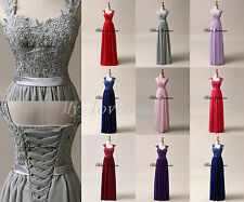 In Stock Chiffon Prom Dresses Bridesmaid Dresses Formal Evening Party Ball Gowns