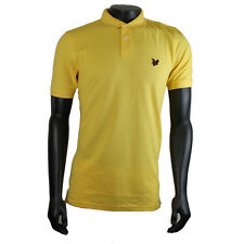 Mens Lyle & Scott Yellow/Pink Logo Polo SRP £59.99