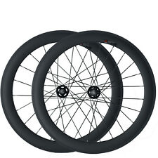 23mm Width 60mm Clincher Carbon Wheels Track Fixed Gear Track Bicycle Wheelset