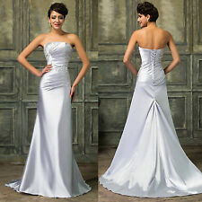 Elegant Long Formal Dress Mermaid Satin Ball Gown Party Cocktail Evening Prom