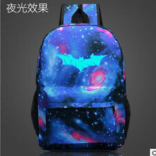 Batman Symbol Night Lights Backpack Shoulders Bag Laptop Bag Schoolbag Bookbag