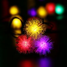 Outdoor 20 LED Solar Fairy String Snowflakes Garden Party Christmas Decors Light