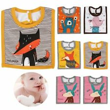 Baby Boy Girl Kids Bibs Saliva Towel Cartoon Animal Square Bib Feeding Bandana
