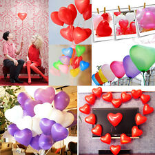 Big Sale 100pcs Colorful Love Heart Shape Balloons Latex Balloon Wedding Party