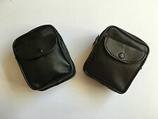 NEW SOFT BLACK GENUINE LEATHER COIN POUCH WALLET CAMERA PURSE WITH BELT LOOP
